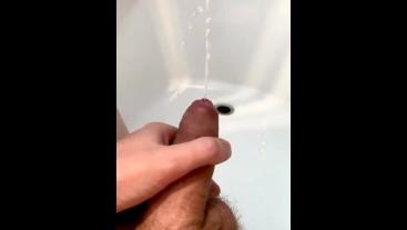Pissing erection