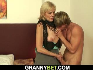 He prefers blonde skinny granny prostitute...