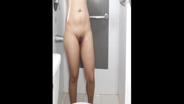 Chubby Pinay stepmom taking a shower 20