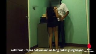Pinay Slut Nakipagsex sa Maswerteng Delivery Rider - Sex for Food