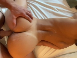Covered In Cum And Fucked Into A Quivering Orgasm (Big Cumshot) – Amateur NoFaceGirl