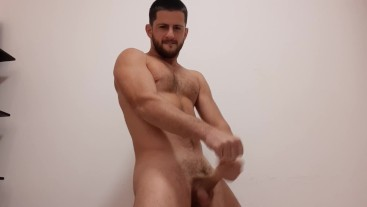 Amateur hot stud strips down and has you suck his dick and swallow his load
