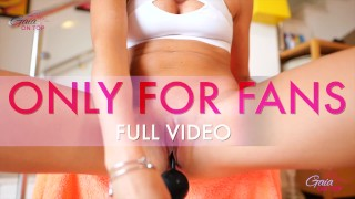 Pussy stretching by pussy pump and huge balls insertions - GaiaOnTop - TRAILER