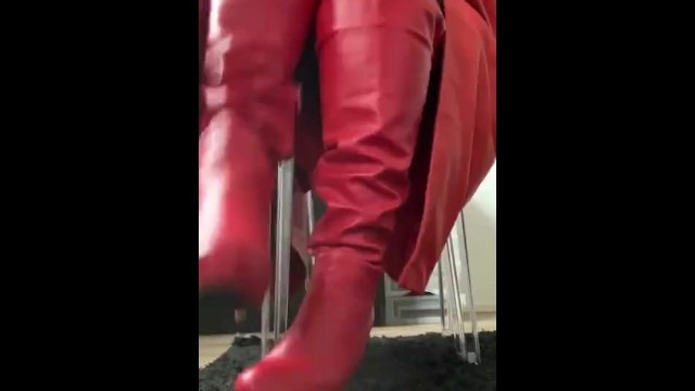 Boots worship & Spit 5
