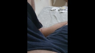 Step mom caught without panties into step son room and fuck