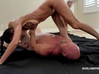 Sofie Marie Naked Wrestling Fight And Rough Fucking Vs Spike Irons For Evolved Fights