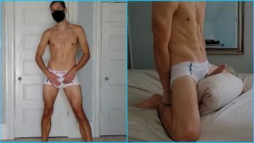 Pillow cum in my mesh undies