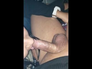 Female sucking off shemale...