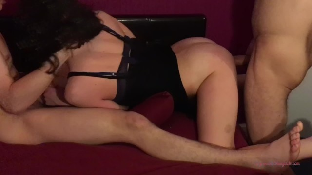 3Some One Cock Into My Mouth And Yours Into My Ass .