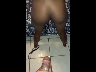 Ebony twerks and gets till she squirts doggystyle...