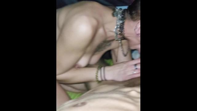 Slut sucks me hard so I can fuck her ass Gagging DEEPTHROAT 14