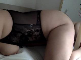 Cute girl being naughty