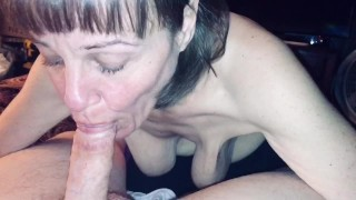 Granny loves sucking cock and swallowing cum.
