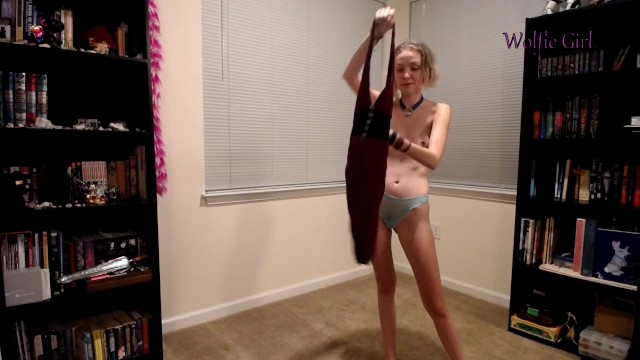 Skinny Blonde Tries on all her Dresses - Wolfiegirl17 9