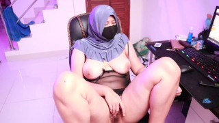 HijabGirl indonesia Masturbation Watching Porn
