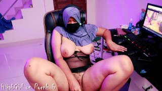HijabGirl indonesia Masturbation Watching Porn P.Full