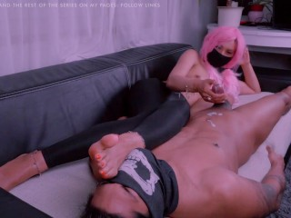 Slave Denial & Torture Episode 5: Ninja Foot Queen Edges Out Your Life Milk With Her Foot Aroma