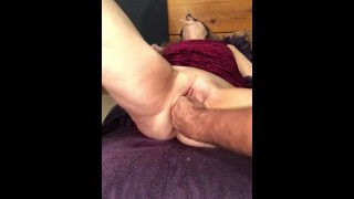 Blindfolded Pent Up Mature Milf Gets Pussy Fisted, Moans With Pleasure!