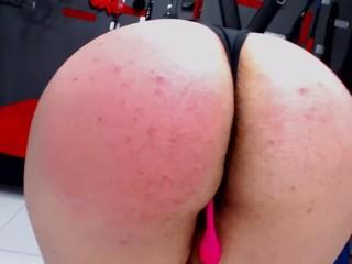 Slapping ass hard until it turns red ass...