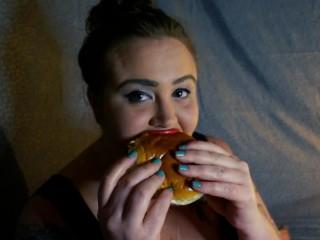 Bbw art hoe golly bells burger fries stuffing...