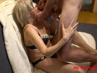 cums in Granny's mouth. 70 year old granny. My-dick-is-big 4K