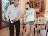 DADDY4K. Sex with BFs old dad is what cutie wanted to try in her life