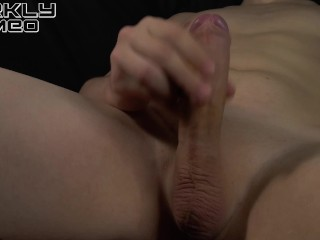 Horny young guy in the room moans and jerk off a big cock huge load. – Darkly Dimeo – 4k