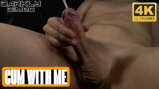 Horny young guy in the room moans and jerk off a big cock huge load. - Darkly Dimeo - 4k
