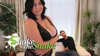 Shake The Snake - Hot Brunette BBW Get Fucked Hard