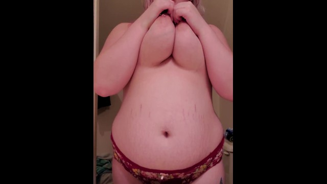 Playing with & Sucking on my Huge Tits 8