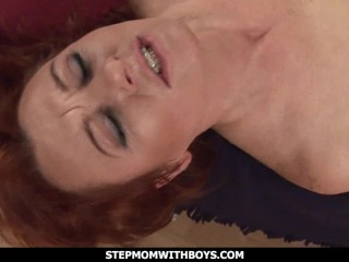 StepmomWithBoys – Mature Ginger Gets Boned By Horny Stepson