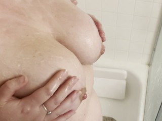 Cum take a shower with me soapy big...