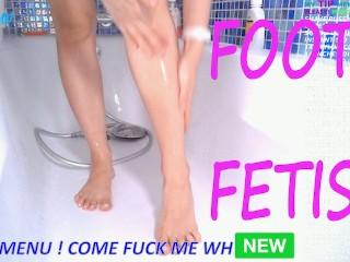 Washing my feet shaving amateur...