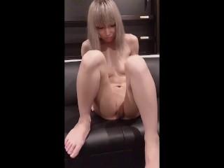like nijiu idol Mayuka sleeping around for business Gonzo outflow M-shaped masturbation Blowjob