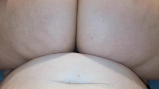 WET LESBIAN PUSSY RIDING! - CLOSE UP TRIBBING AND RIDING!