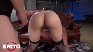 ERITO - Cute Japanese Drilled Hard In A Gangbang And Gets Huge Load In Her Pussy
