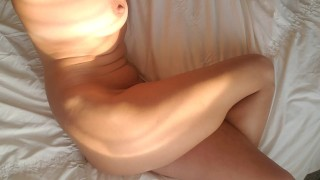 Orgasm by Syntribation, crossing and squeezing legs. Second time cumming this morning