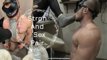 Femdom fun with her husband, part 2. You need to eat your cum from my foot