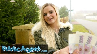 Public Agent Cute Blonde Gets her Tight Shaven Pussie Slammed