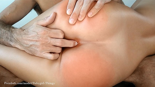 Hard spanking and anal make my pussy obscenely swollen and wet!
