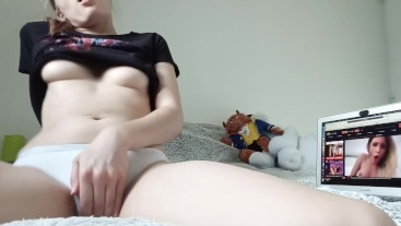 I masturbate in front of porn and I get wet a lot!