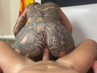 Pounding sex reverse cowgirl anal deepthroat sloppy bj...