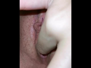 wet pussy touching