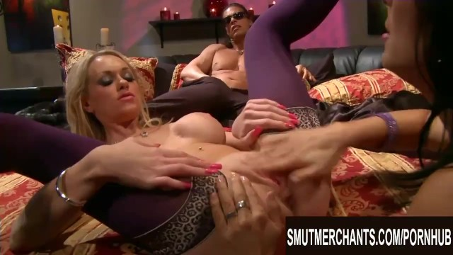 Hot Zoey Holloway n Brooke Belle Take Turns Getting Pounded by a Blind Stud 11