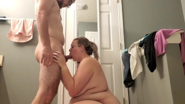 BBW Gets a Dripping Creampie