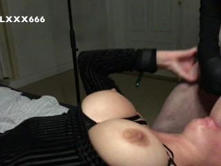 Teen girl suck big dick and balls deepthroat...