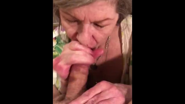 Amateur MILF GILF With Red Lipstick Gives Sensual Slow Delicious POV CIM Swallow Blowjob 10