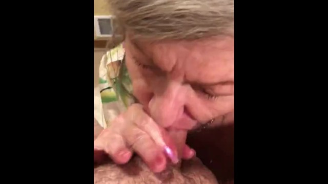 Amateur MILF GILF With Red Lipstick Gives Sensual Slow Delicious POV CIM Swallow Blowjob 35