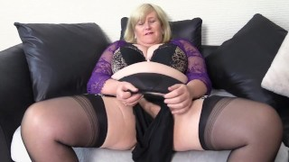 Nasty Step Mom secretly sells her Dirty Panties after stuffing them in her Wet Pussy