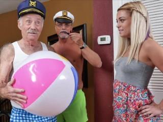BLUE PILL MEN - Blonde Teen Kenzie Green Stuffed With Old Man Cock